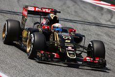 Romain Grosjean (FRA) Lotus F1 E23.Spanish Grand Prix, Saturday 9th May 2015. Barcelona, Spain.