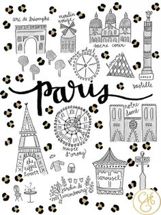 Cheetah Print Maps Paris & NYC Limited Edition by EvelynHenson