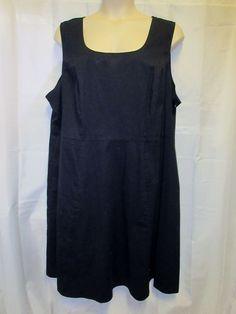 Lane Bryant 284xDress Rockabilly Swing Black Plus Pin Up Fit & Flair  #LaneBryant #TeaDress #LittleBlackDress