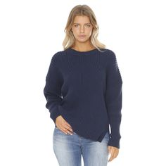 Slouchy slightly oversize fit, Varigated rib knit design throughout, Split hem at sides, Thick feature roll neck100% COTTON