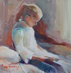 Little Reading Girl by eringregory on Etsy
