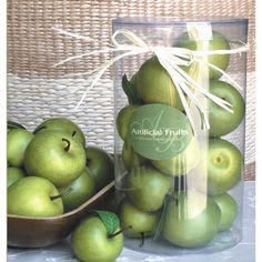 $10.95 - The perfect accent to your entryway vignette or a dining room centerpiece, this faux green apple brings a touch of natural charm to your decor.