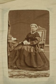 Queen Victoria ca 1863 van dyke brown print, via Flickr.