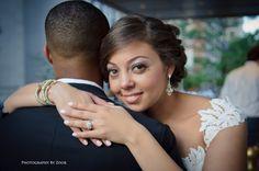 bride groom outdoor up close portrait wedding over shoulder