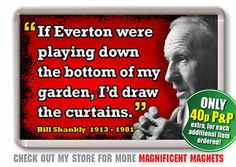 Shankly on Everton Everton, Liverpool Fc, Baseball Cards
