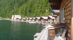 Ross Lake Resort has a line of 12 individual cabins and 3 bunkhouses built on log floats. The resort is located on the west side of Ross Lake, just north of Ross Dam. It is the only facility on the lake and characterized by its remoteness (no direct road access). Washington