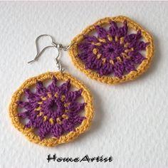 Mandala Earring Crochet