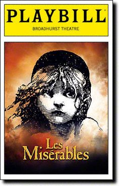 Playbill Cover for Les Misérables at Broadhurst Theatre 2006 - Les Miserables Playbill - Opening Night