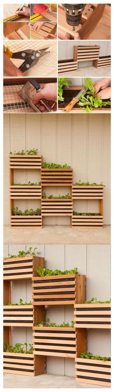Excellent idea for the indoor garden Space-saving vertical vegetable garden with a small bu . - Excellent idea for the indoor garden Space-saving vertical vegetable garden with a small bu …, # - Backyard Vegetable Gardens, Vegetable Garden Design, Herbs Garden, Vegetable Ideas, Vegetable Pictures, Backyard Fences, Backyard Landscaping, Deck Patio, Landscaping Ideas