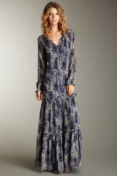 Elizabeth and James Marilyn Silk Maxi Dress