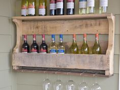 Store your wine in rustic style by putting a new twist on a standard, wooden shipping pallet.