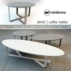Miniforms BINO, Tables 3dsMax 2013 + fbx (Vray) : Table : 3dSky - 3d models