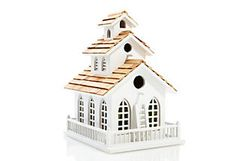 John loves birdhouses and this is cute but pricey for me so need to check into a diy for this.