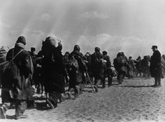 A Republican brigade, disarmed at Port-Bou on the French border, make their way towards makeshift camps set up on the beaches of the region. Nerja Spain, Camping Set Up, Magnum Photos, Pyrenees, Old Photos, Beaches, March, French, Pictures