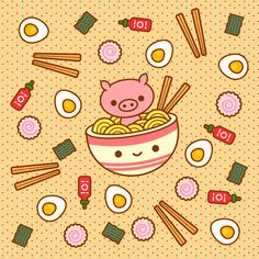 Find GIFs with the latest and newest hashtags! Search, discover and share your favorite Ramen GIFs. The best GIFs are on GIPHY. Food Kawaii, Kawaii Pig, Ramen Hacks, Chinese Celebrations, Pig Illustration, Pig Art, 1 Gif, Lol, Organizer