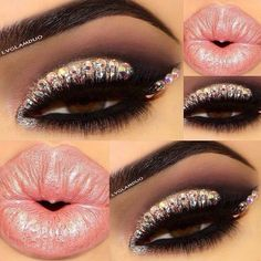 Cute but not very realistic. How would you like to have a bunch of gems stuck to your eyelids? It is very pretty though.
