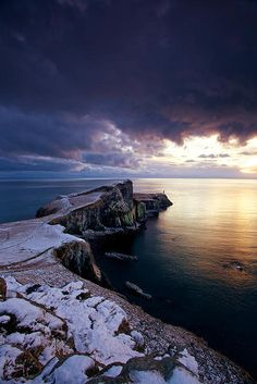 Neist Point in Winter