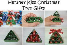 Hershey Kiss Christmas Tree Gifts - http://diyideas4home.com/2013/11/hershey-kiss-christmas-tree-gifts/