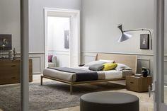 Massivholz Bett Grace aus Eiche - Farbe Honig - Produzier in Italien von Novamobili