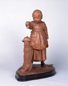 Hirakushi Denchû ≪愛犬(童児と犬)≫明治40年 個人蔵