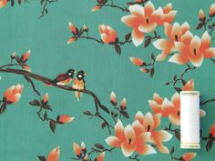 Flora Songbird Cotton Lawn - Jade - Fabric Godmother
