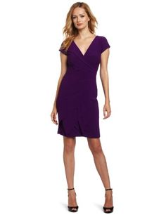 London Times Women`s Pebble Crepe Starburst Shutter Tuck Dress $60.79