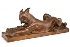 "** Jussi Mäntynen (Finnish 1886-1978), ""Mother's Pride"" Sculpture, Patinated… Bronze, Art Decor, Home Decor, Art Nouveau, Bookends, Pride, Lion Sculpture, Statue, Homemade Home Decor"