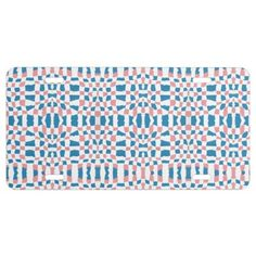 Pink & Blue Weave Pattern License Plate Exterior Car Accessories, Custom Front License Plates, Blue Weave, Arts And Crafts, Paper Crafts, Vanity Plate, Baby Patterns, Paper Plates, Keep It Cleaner