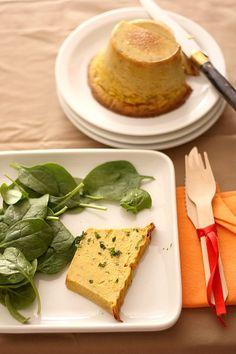 Restes de soupes /// terrine de légumes /// 200 ml de soupe de légumes diverses – 2 oeufs – 1 cs de farine (ou de maïzena) – Epices et herbes au choi