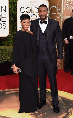 Pin for Later: Ces Couples de Célébrités Étaient Superbes Lors des Golden Globe Awards Cynne Simpson et Chris Tucker