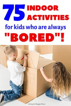 Boredom​ busters for kids! Looking for indoor activities for kids? This ultimate list of fun crafts, games, family activities, and creative ideas for things to do at home will keep your kids and family busy for hours. games for kids Indoor Family Activities, Rainy Day Activities, Home Activities, Fun Activities For Kids, Learning Activities, Fun Games, Kids Fun, Kids Learning, Home Games For Kids