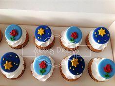 """Cupcakes inspirados en """"El Principito"""" Little Prince Party, The Little Prince, Prince Birthday Party, Birthday Parties, Prince Cake, Party In A Box, Twinkle Twinkle Little Star, Baby Boy Shower, Baby Food Recipes"""