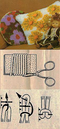 Пушистые подушки из остатков пряжи   Искусница