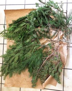 How to create your own fresh evergreen garland this holiday season with step by step video instructions by Megh. Its Christmas Eve, Christmas Home, Christmas Things, Xmas, Boxwood Garland, Diy Garland, Garlands, Christmas Greenery, Christmas Wreaths