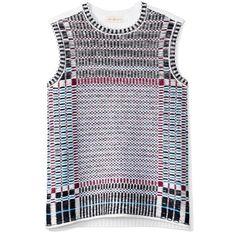 Tory Burch Jacquard Crewneck Vest ($118) ❤ liked on Polyvore