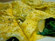 Receta de Omelette de Queso y Espinacas Otra versión.