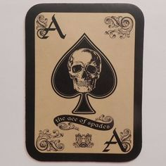 LEATHER ACE OF SPADES DEATH CARD MOTORCYCLE JACKET VEST BIKER MILITARY PATCH USA in Collectibles, Transportation, Motorcycles, Motorcycle Memorabilia, Patches | eBay