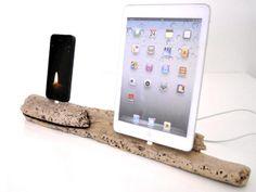 Driftwood iPhone + iPad Mini Dock