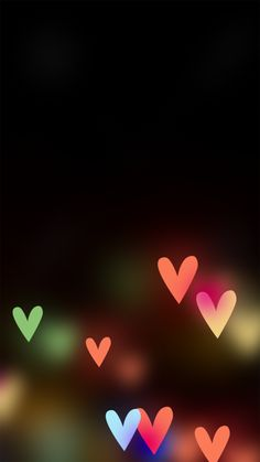 Hearts Bokeh Wallpaper iphone 6 Plus