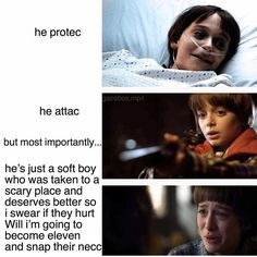 Image result for he protec stranger things