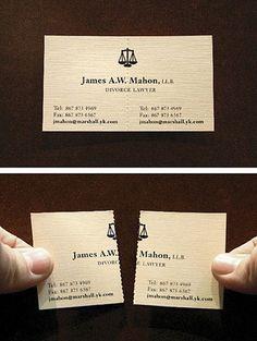 skilsmisseadvokatens visitkort - divorce lawyer's business card