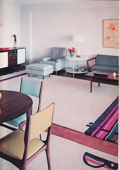 Decoration USA, Jose Wilson and Arthur Leaman, 1965 - Would LOVE to have the table and chairs!