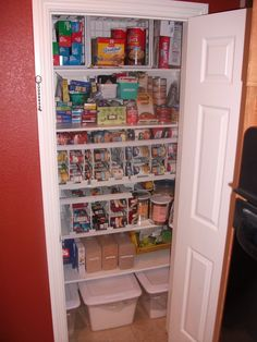 A Small, Nicely Organized Closet Pantry