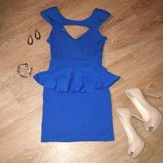 ARDEN B 👗 Peplum Dress Blue Peplum Arden B Dresses Mini