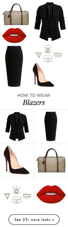 """#BISNIS#"" by daniel-weisskirchner on Polyvore featuring Theory, Christian Louboutin, Lime Crime, Gucci and Charlotte Russe"