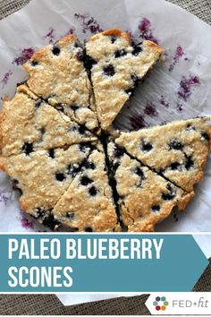 These Paleo Blueberry Scones are a healthier scone option that is free of gluten grains and refined sugar! Made with cashews arrowroot starch coconut oil and maple syrup this scone recipe is a hit! Paleo Dessert, Paleo Recipes, Real Food Recipes, Free Recipes, Paleo Desert Recipes, Syrup Recipes, Food Tips, Healthy Scones, Paleo Scone