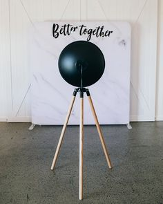 """White Marble backdrop with black acrylic sign """"Better Together"""" Black Acrylics, Better Together, Tripod Lamp, White Marble, Backdrops, Sign, Instagram, Signs, Backgrounds"""