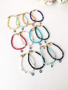 Evil eye bracelet, seed beads bracelet, miyuki beads bracelet, evil eye charm bracelet, dainty bracelet, colorful seed beads bracelet  #jewelry #bracelet #evileye #evileyebracelet #seedbeadsbracelet #evileyejewelry #miyukibeads #seedbeads #charmbracelet # daintybracelet #greekevileye #greekjewelry