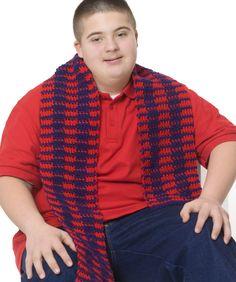 PRINTED - Crochet - All-American Scarf - Medium Worsted Weight [4] Yarn