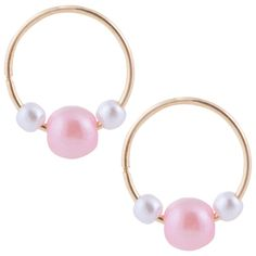 Classic Gold Sleeper Hoop Earrings - Online Only Pearl Centerpiece, Earrings Online, Delicate Jewelry, Cool Things To Buy, Hoop Earrings, Fancy, Pearls, Classic, Gold